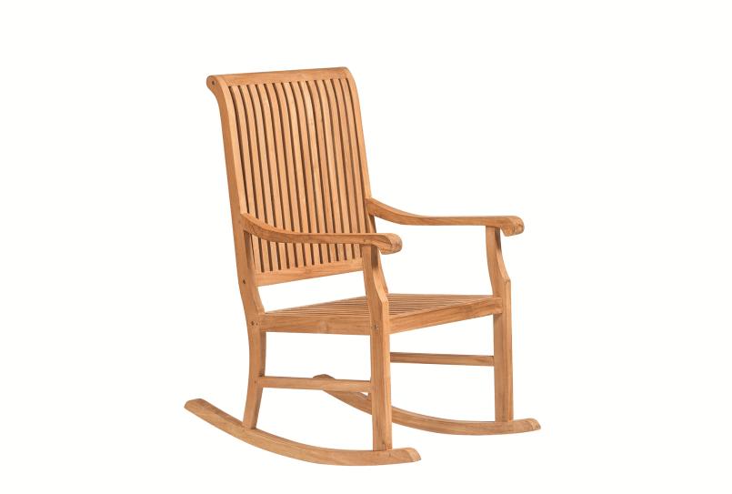 Houten relax schommelstoel 60 x 51 x 108 cm. Type: Teak