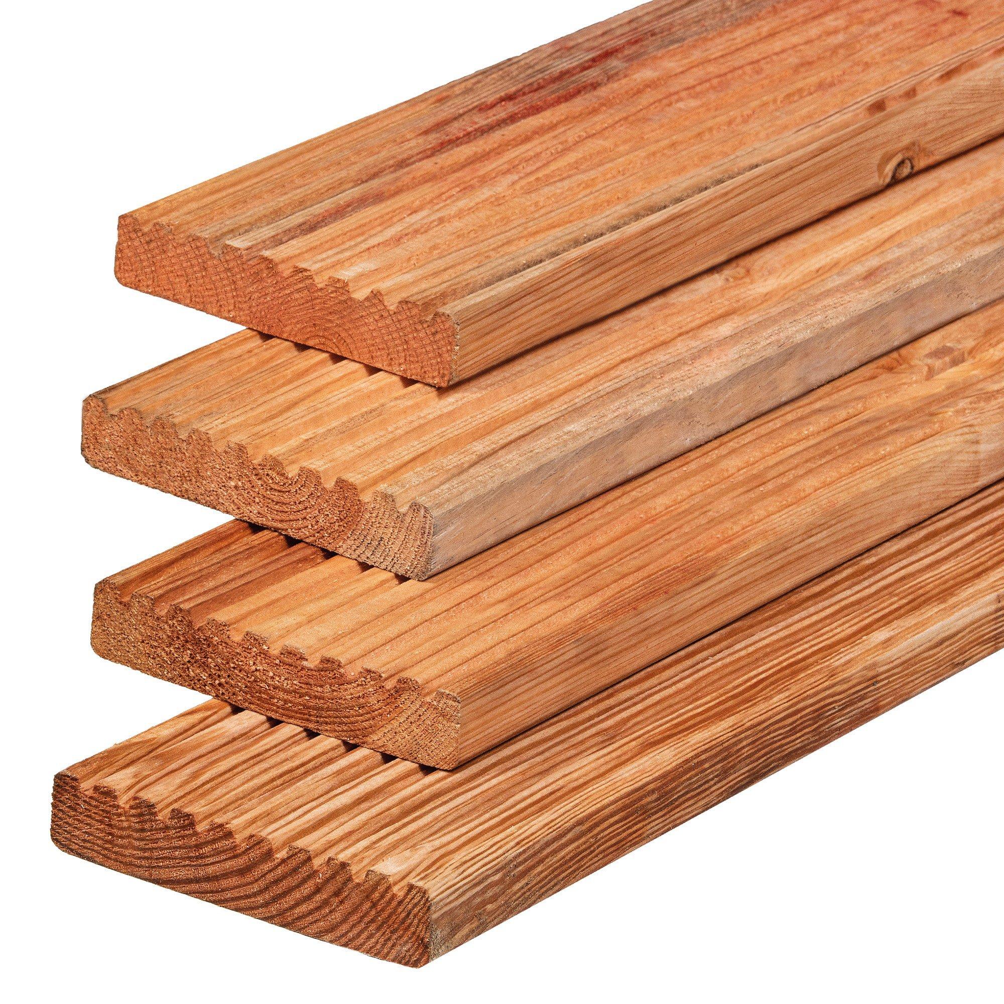 Houten vlonderplank 28 x 145 mm. Type: Red Class Wood