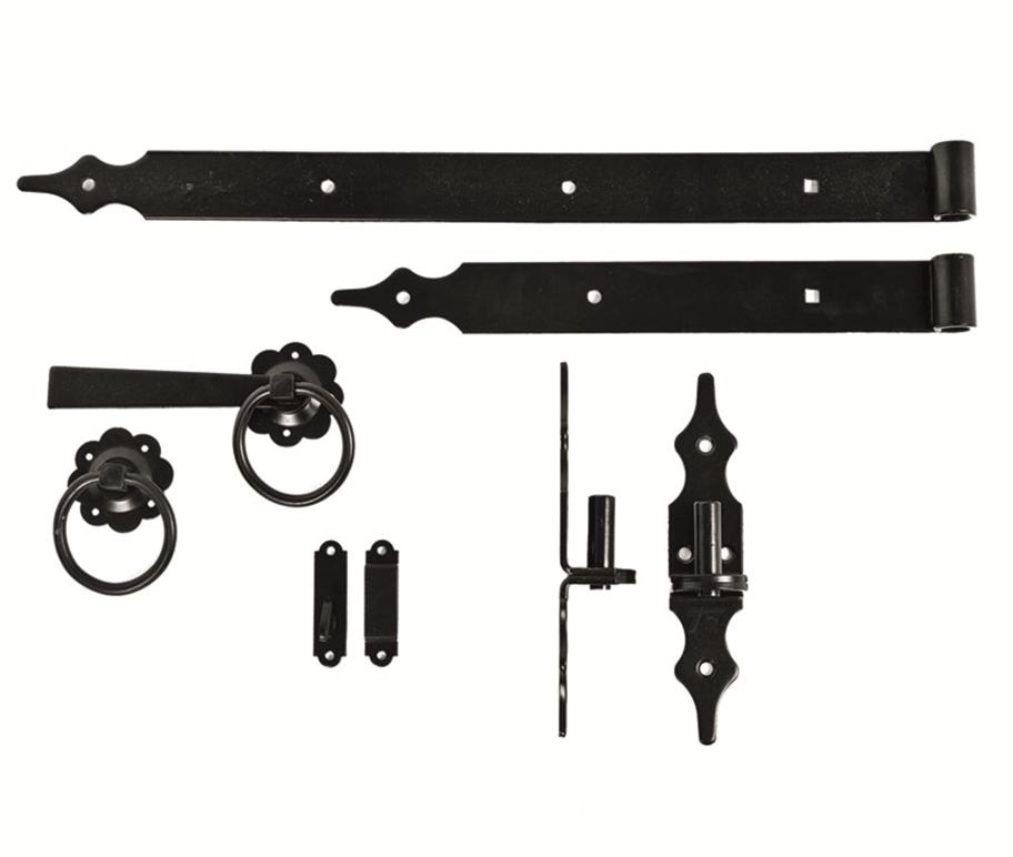 Blackline set voor Tuinhekdeuren en Toeganspoorten. Type: de Luxe