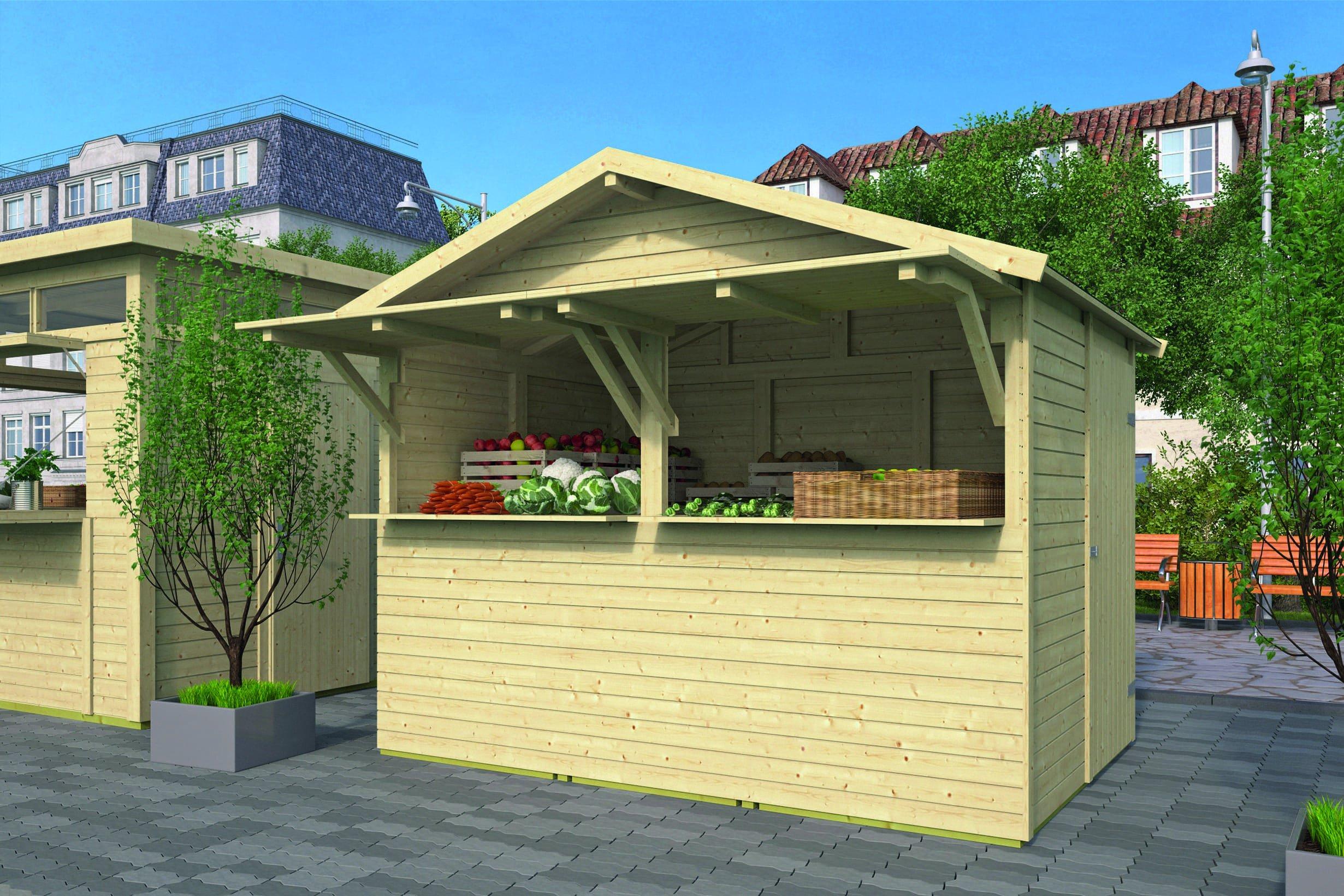 Houten Kiosk 300 x 200 x 251 cm. Type: standaard