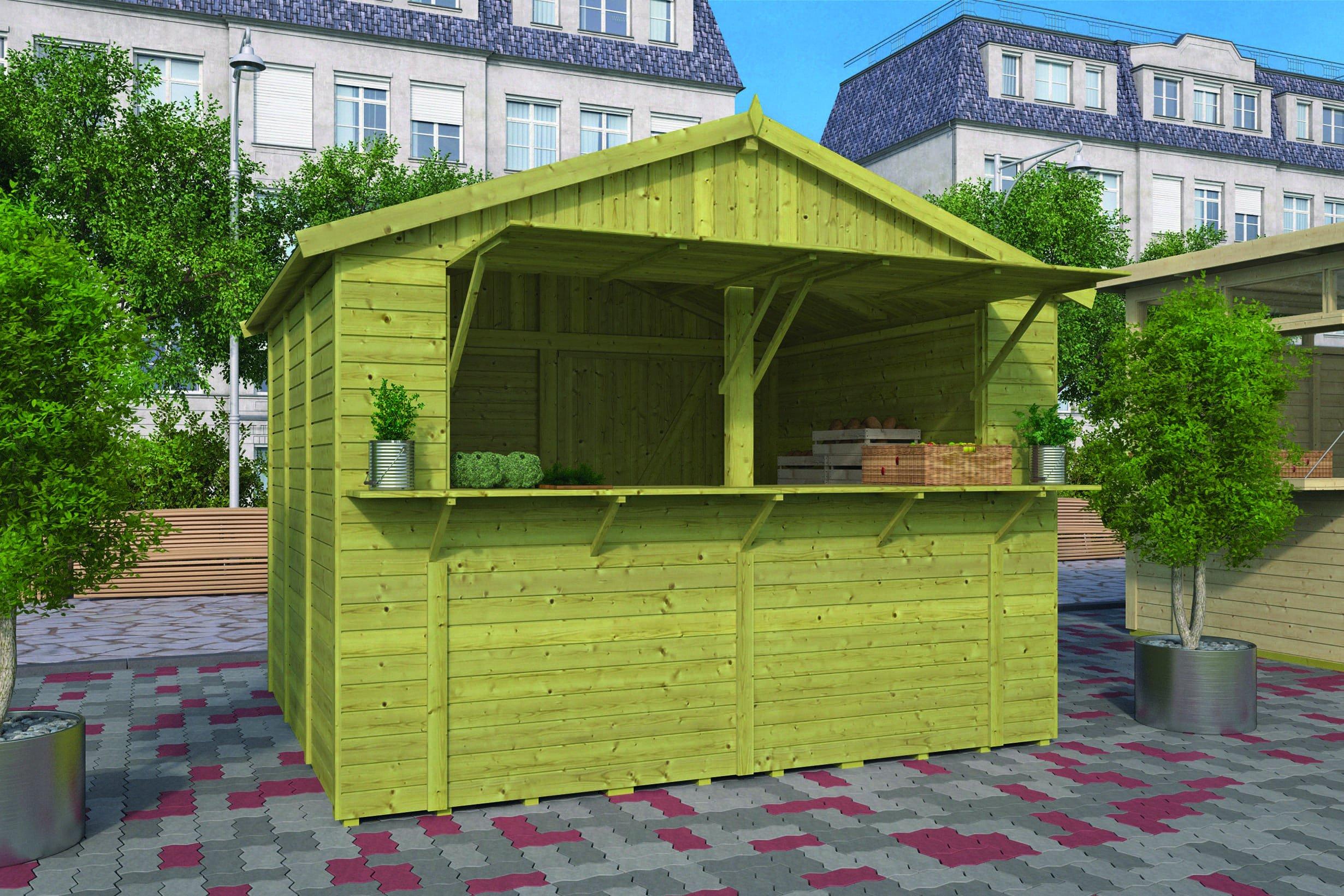 Houten Kiosk 300 x 250 x 260 cm. Type: Basic