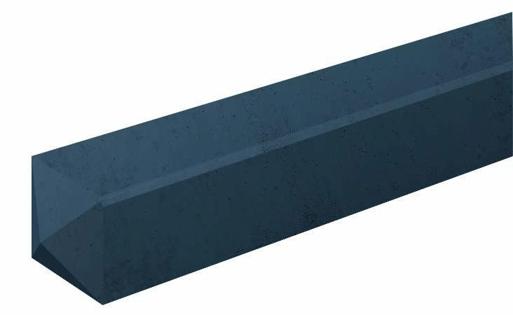 Eindpaal Antraciet 10 x 10 x 280 cm. Type: Betonbouw