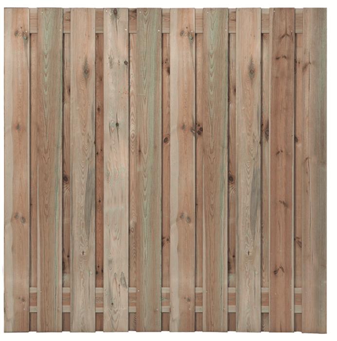 Houten schutting grenen 180 x 180 cm. Type: Haaksbergen