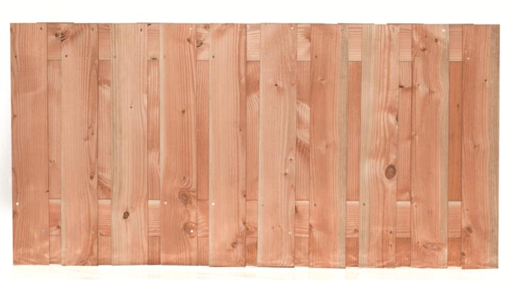 Houten schutting Lariks/Douglas 90 x 180 cm. Type: Zwarte Woud