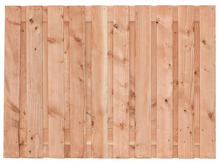 Houten schutting Lariks/Douglas 130 x 180 cm. Type: Zwarte Woud
