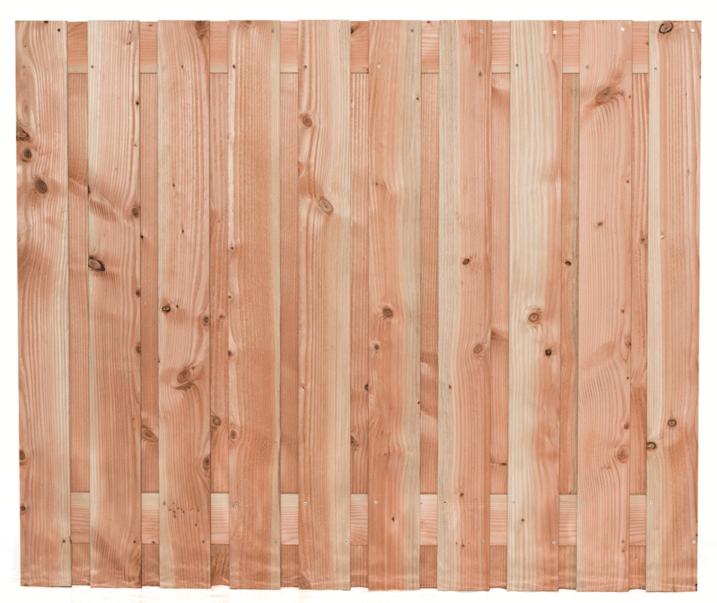 Houten schutting Lariks/Douglas 150 x 180 cm. Type: Zwarte Woud