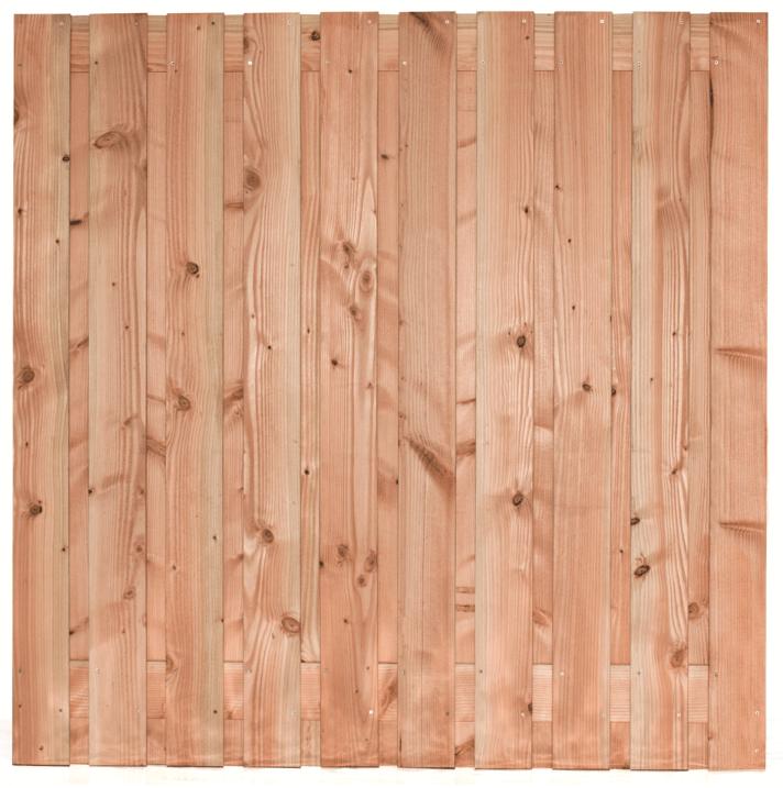 Houten schutting Lariks/Douglas 180 x 180 cm. Type: Zwarte Woud