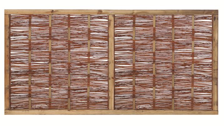 Houten scherm grenen 90 x 180 cm. Type: Wilgenteen