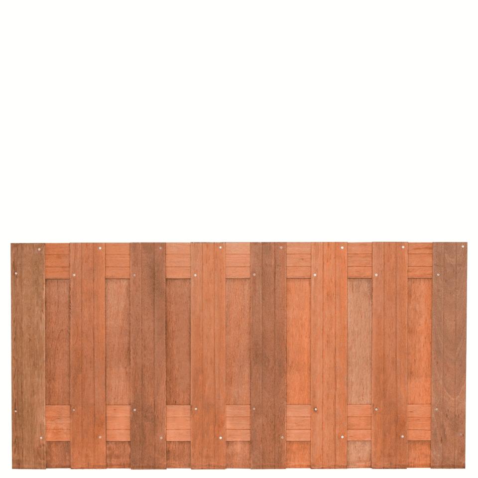 Hardhouten schutting 90 x 180 cm. Type: Kampen