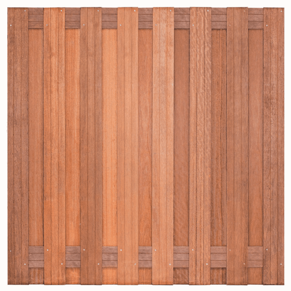 Hardhouten schutting 180 x 180 cm. Type: Kampen