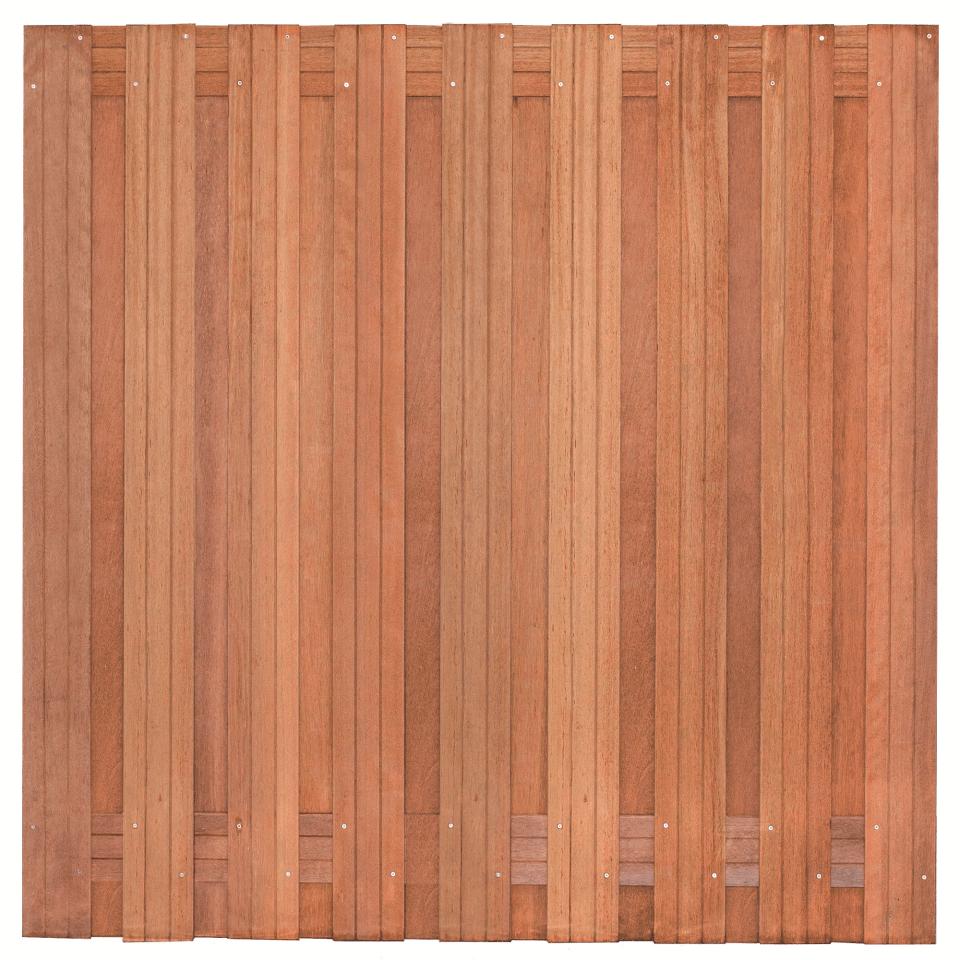 Hardhouten schutting 180 x 180 cm. Type: Harlingen