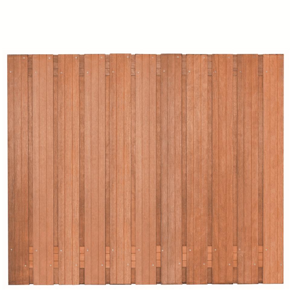 Hardhouten schutting 180 x 150 cm. Type: Hoorn