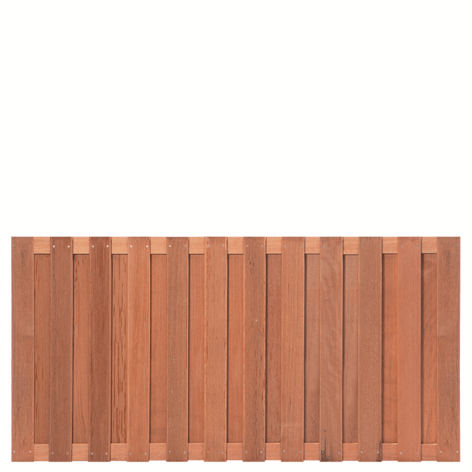 Hardhouten schutting 90 x 180 cm. Type: Leeuwarden