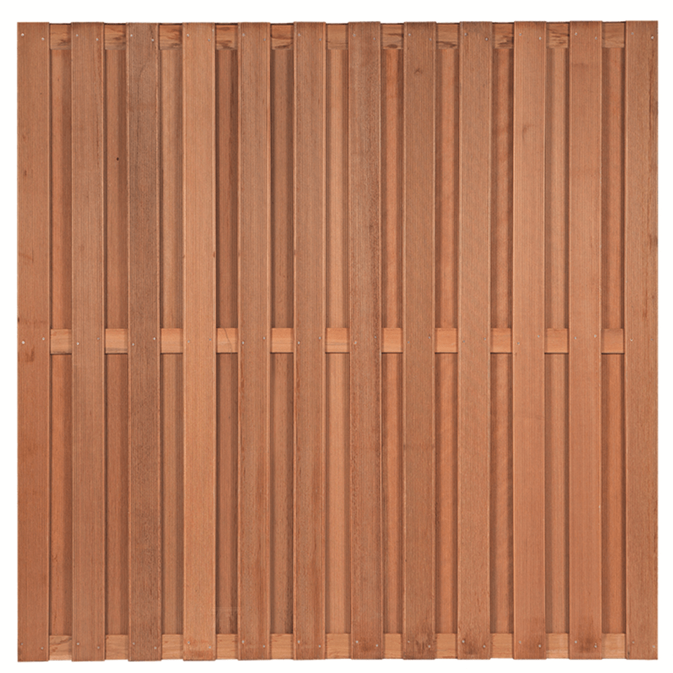Hardhouten schutting 180 x 180 cm. Type: Leeuwarden