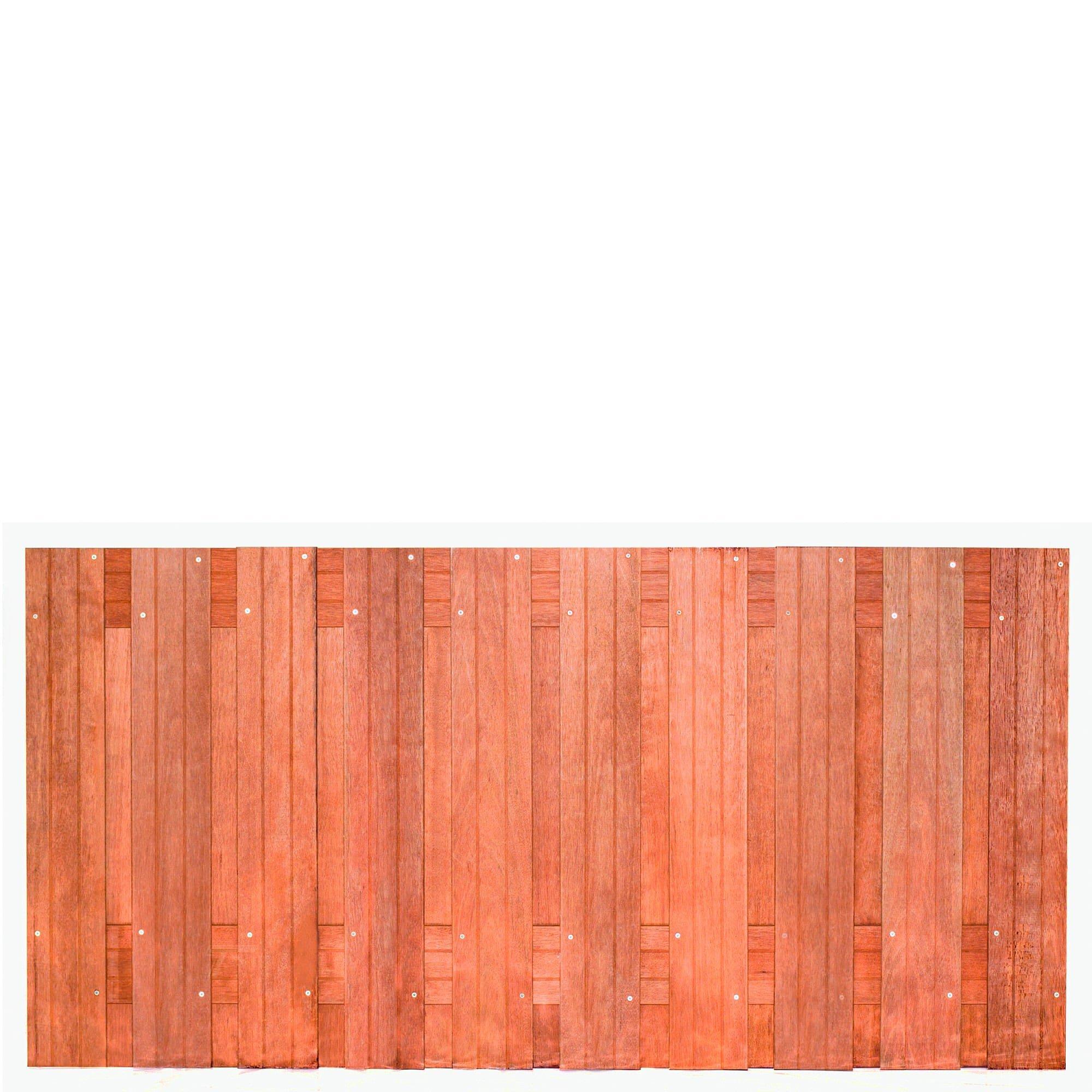 Hardhouten privacy schutting recht 90 x 180 cm. Type: Dronten 90