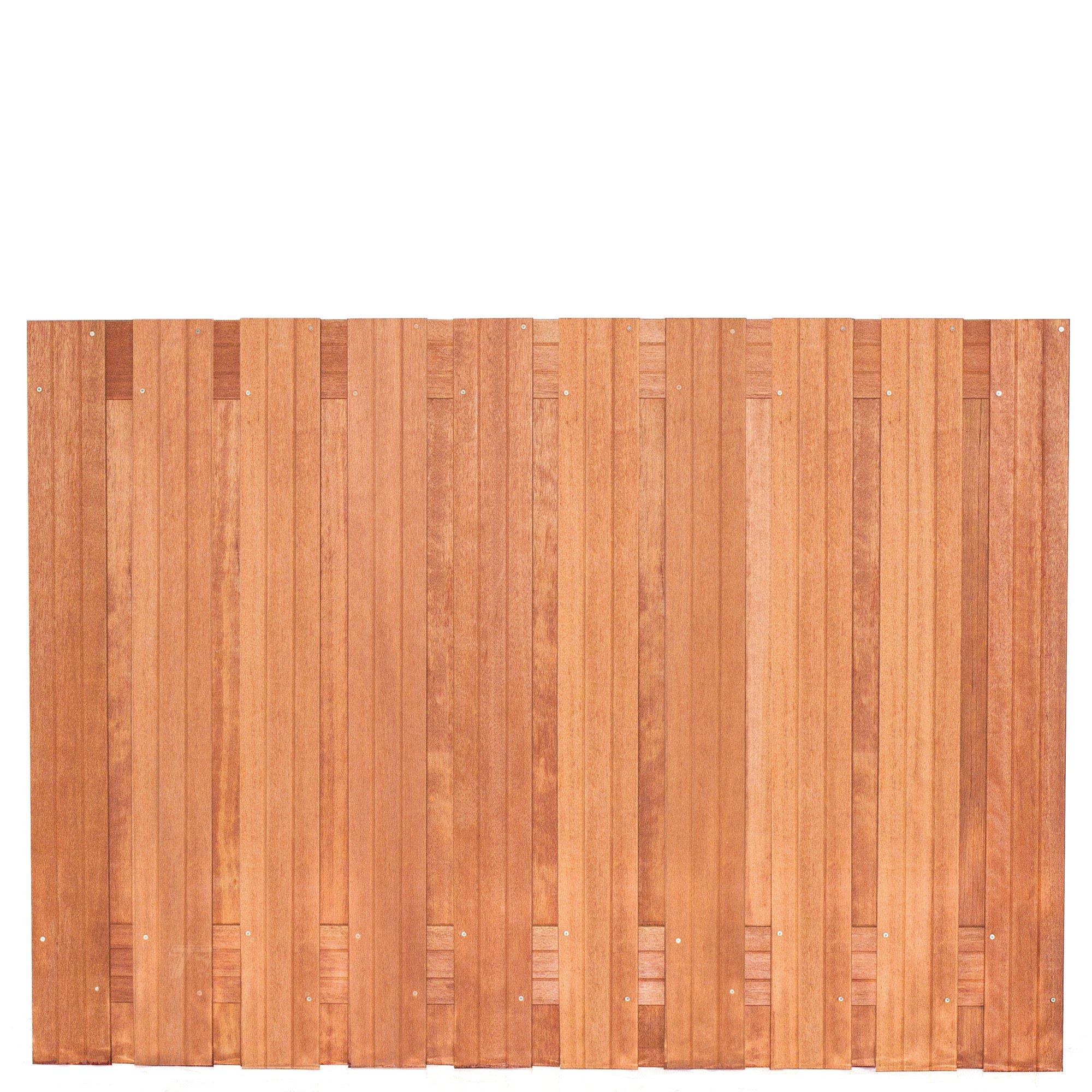 Hardhouten privacy schutting recht 130 x 180 cm. Type: Dronten 130