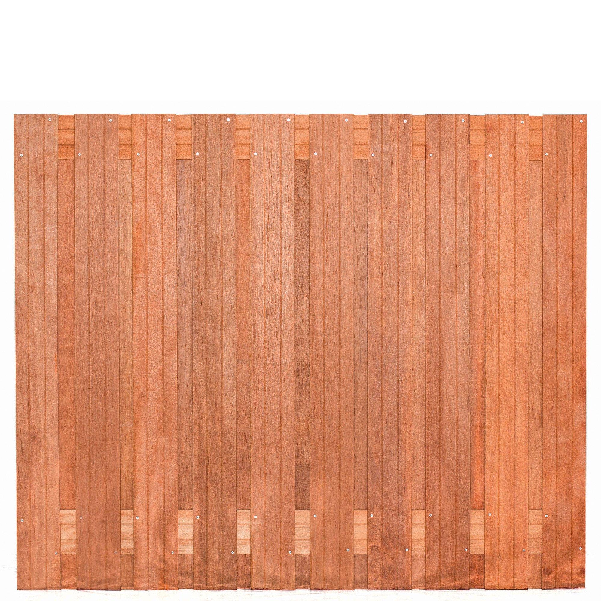 Hardhouten privacy schutting recht 150x 180 cm. Type: Dronten 150