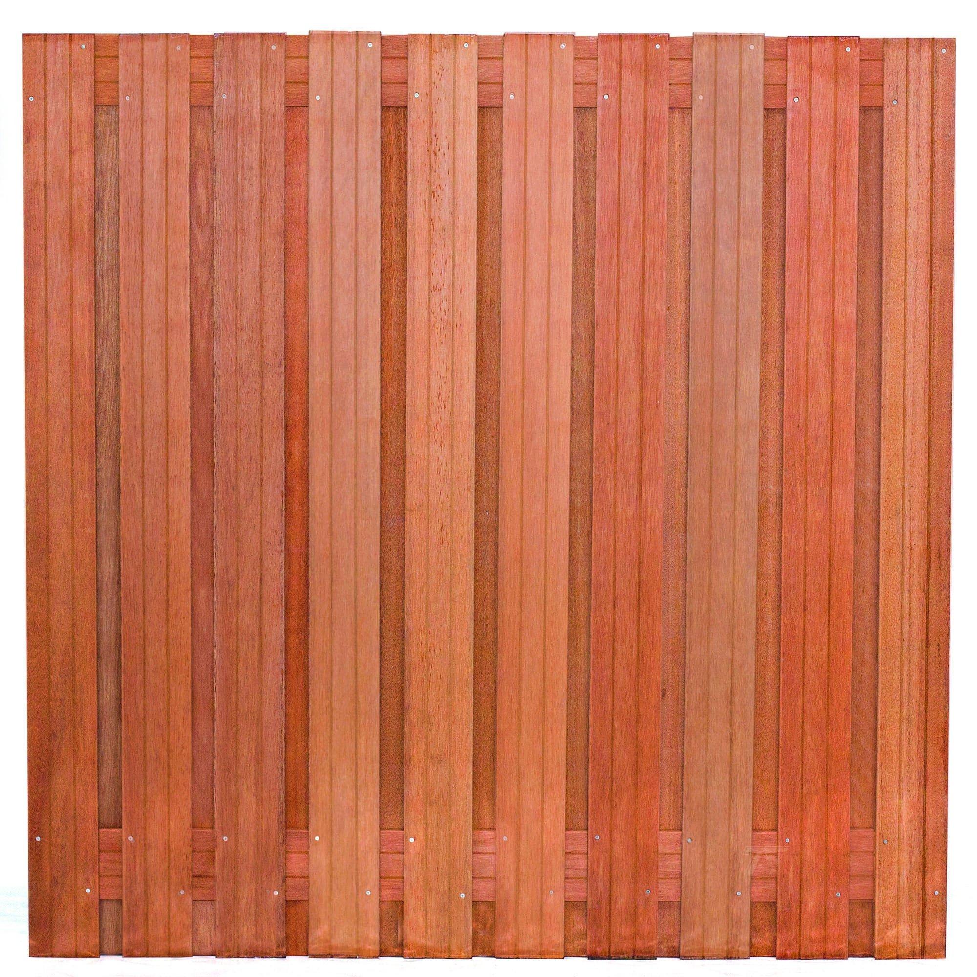 Hardhouten privacy schutting recht 180 x 180 cm. Type: Dronten 180
