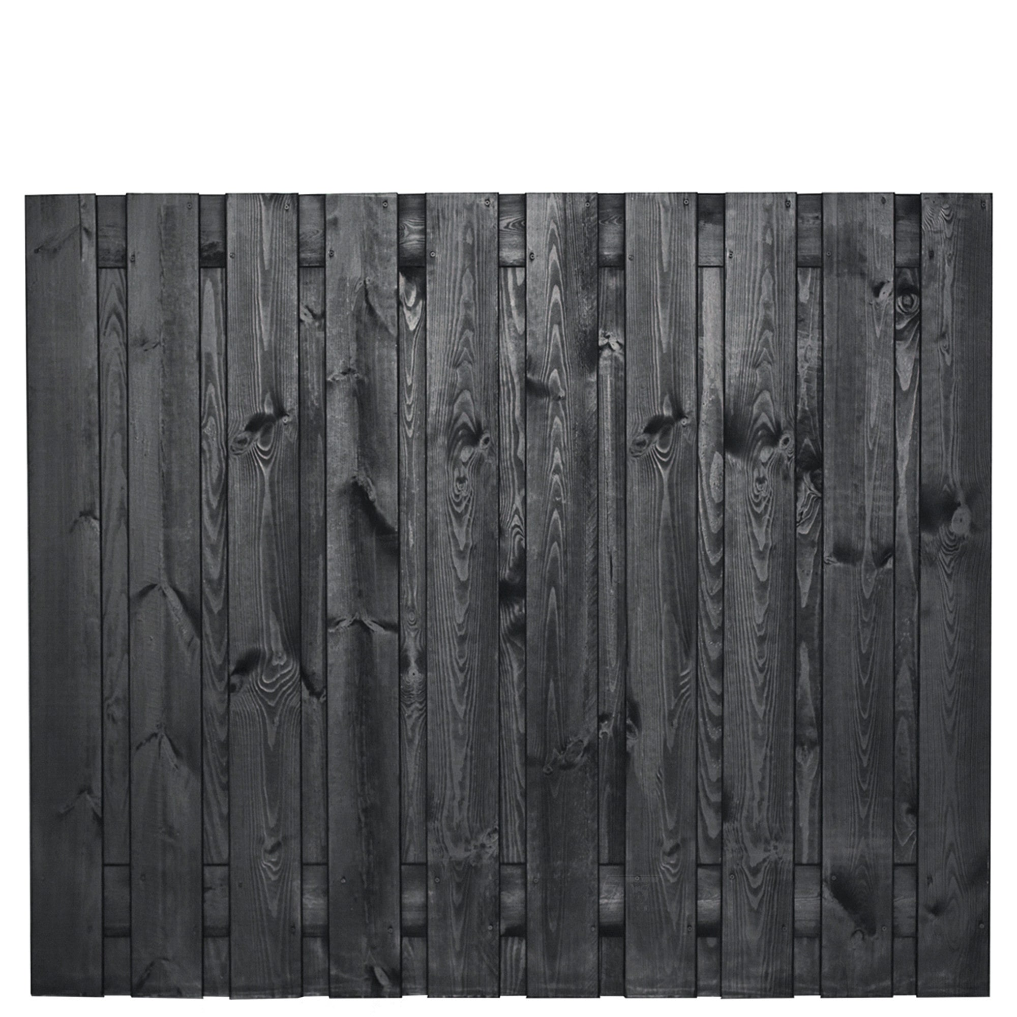 zwarte schutting 150 cm