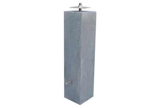 Verwonderend Betonpoer grijs egaal 200 x 200 x 500 mm. Type: Egaal AQ-33