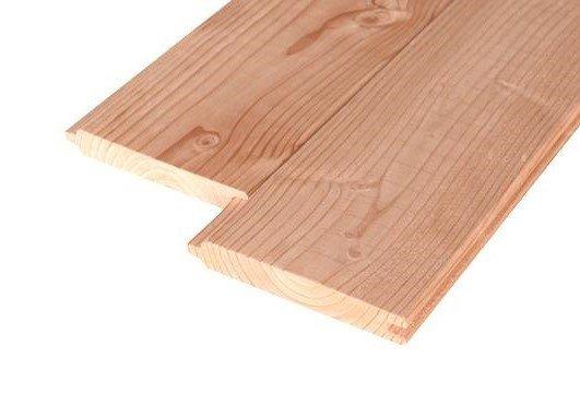 Douglas houten plank 28 x 195 mm. Type: Blokhut