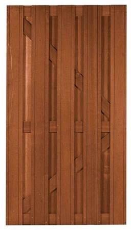 Hardhout tuindeur Bangkirai 100 X 180 cm. Type: Delux Recht