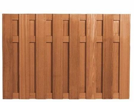 Hardhouten schutting Bangkirai 120 x 180 cm. Type: Delux Recht