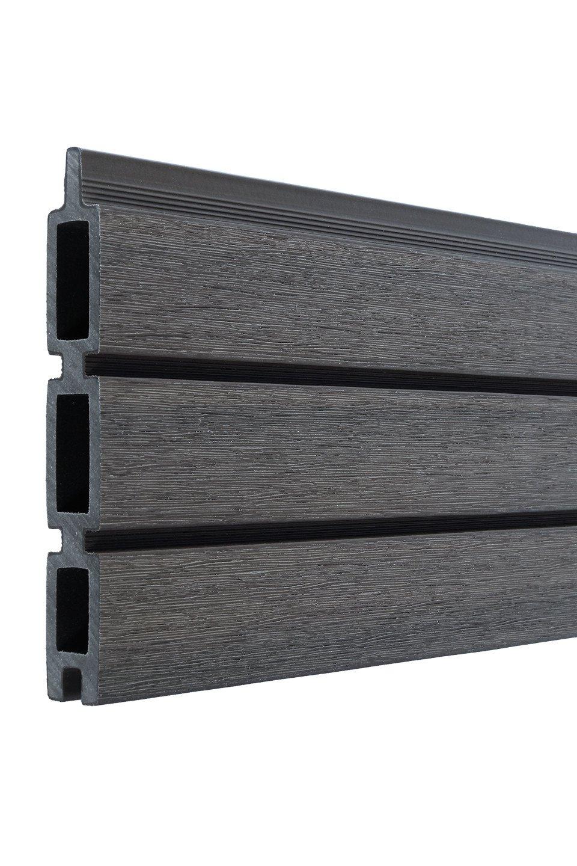 Composiet Fiberdeck lamel 2.1 x 16 (15) x 178 cm. Type: Boston Multi Grey Dark Modern