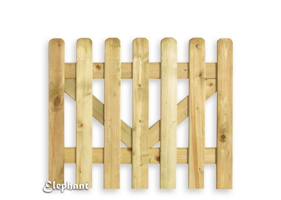 Elephant houten poort