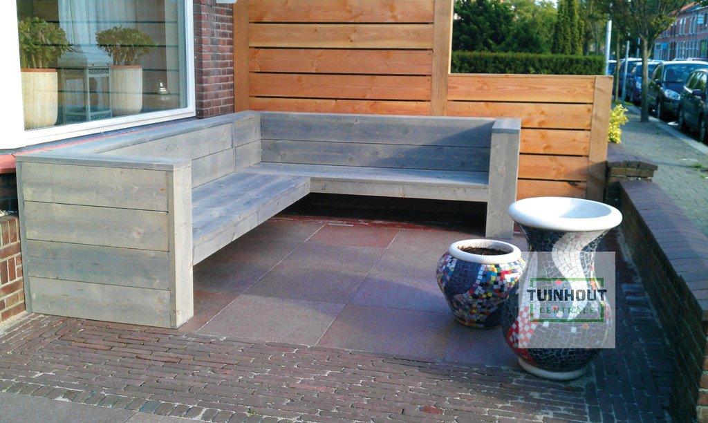Hoekbank Tuin Hout : Steigerhout lounge hoekbank cm