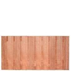 Hardhouten privacy schutting recht 90 x 180 cm. Type: Hoorn 90