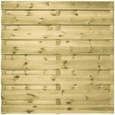 Houten schutting geïmpregneerd recht 180 x 180 cm. Type: Actie Horizontaal