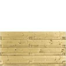 Houten schutting geïmpregneerd 90 x 180 cm. Type: Recht