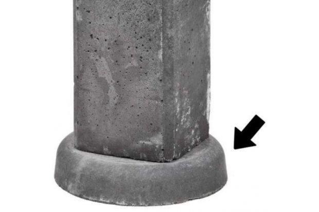 Beton wegzakpreventie 5 x 25 cm. Type: rond