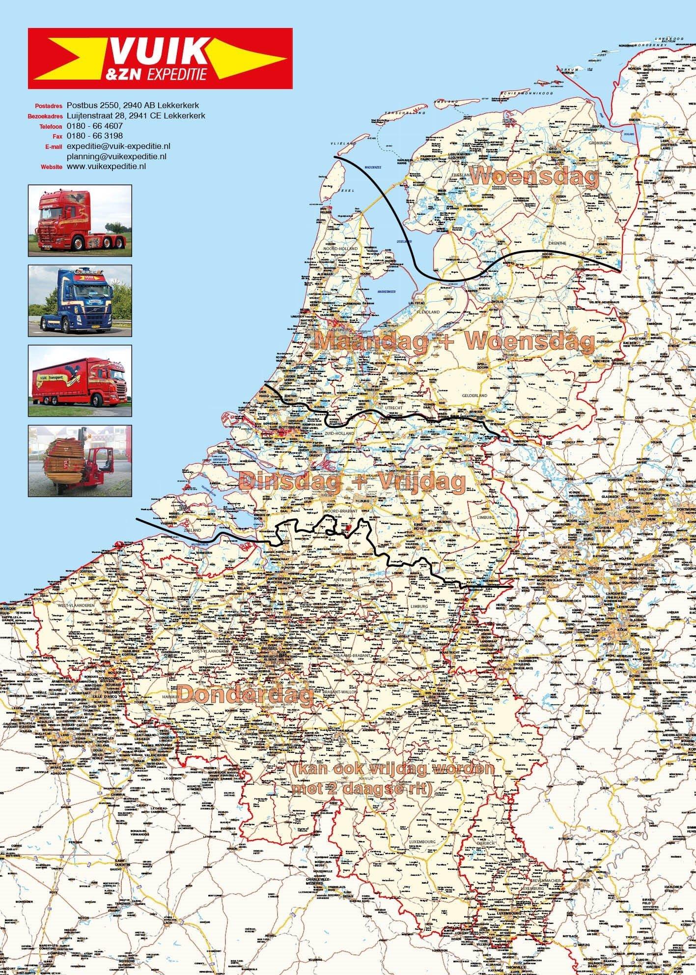 landelijke kaar nederland